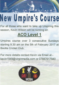 umpire course