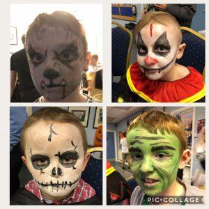 Halloween Fancy dress FBCC 2018 face paints