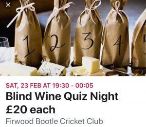 Blind Wine Fun Night
